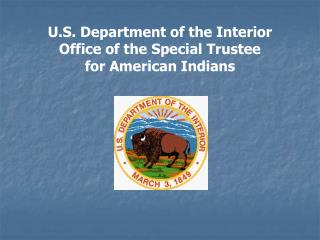American Indian Trust Fund Management Reform Act of 1994 Public Law 103-412