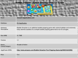 Bubble Smasher - Bubble Blasting Game For Kindle