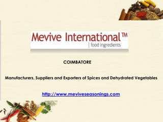 Dehydrated Vegetables Supplier & Exporter  from India