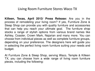 Living Room Furniture Stores Waco TX