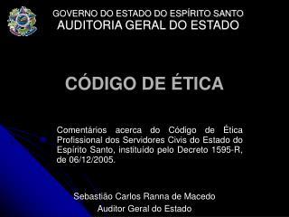 C DIGO DE  TICA