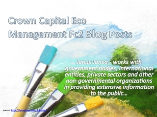 Crown Capital Eco Management Fc2 Blog Posts