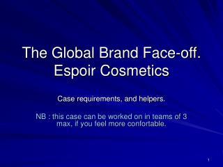 The Global Brand Face-off. Espoir Cosmetics