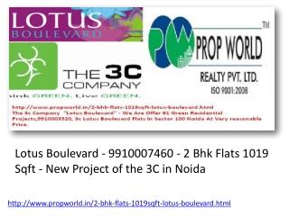 Lotus Boulevard 9910007460 2 Bhk Flats 1019 Sqft 3c Lotus Bo