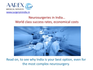 Neurosurgery in India - Advantages