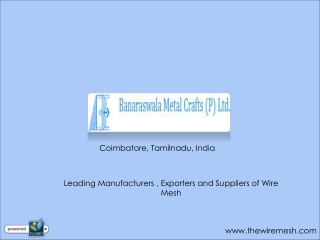 Wire Mesh Manufacturers in India