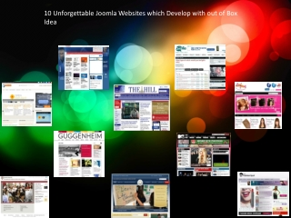 10 Unforgettable Joomla Websites which Develop with out of B