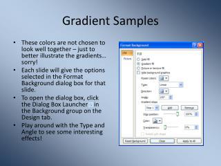 Gradient Samples