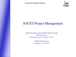 FACET Project Management