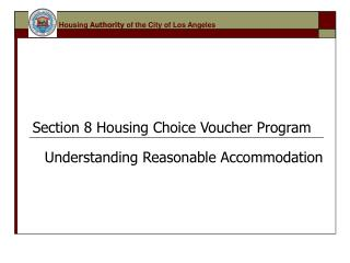 Section 8 Housing Choice Voucher Program