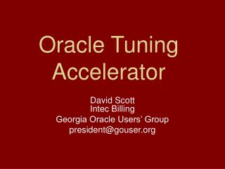 Oracle Tuning Accelerator