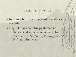 scanning verse