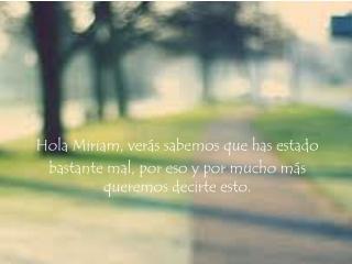Miriam.