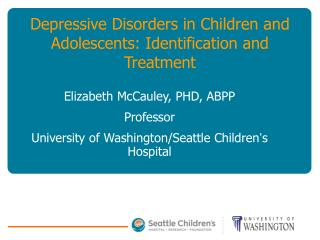 Depressive Disorders in Children and Adolescents: Identification ...