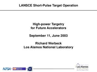 LANSCE Short-Pulse Target Operation