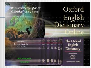 What is the Oxford English Dictionary