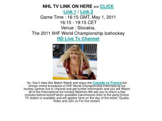 watch live canada vs france iihf stream online free tv link