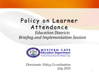 Policy on Learner Attendance