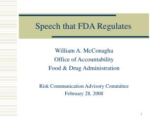 Speech that FDA Regulates