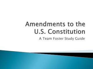 The U.S. Constitution and Civil Rights: The Civil Rights Movement- How did we get here