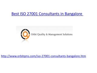ISO 27001 consultants bangalore