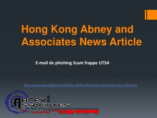 Hong Kong Abney and Associates News Article