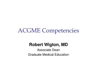 ACGME Competencies
