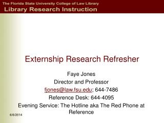 Externship Research Refresher