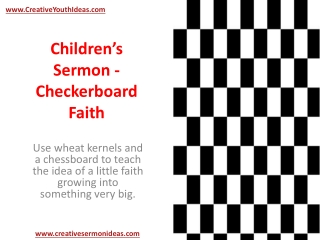 Children's Sermon - Checkerboard Faith