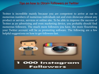 Tips on how to Obtain Followers on Twitter