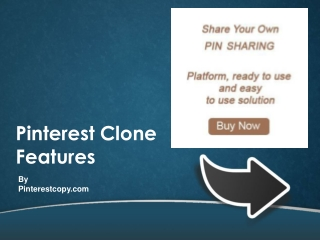 Pinterest Clone Features