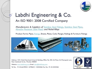 Labdhi Engineering - Stainless Steel Fittings, Bends