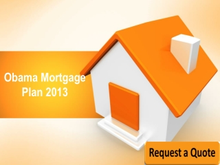 Obama Mortgage Refinance Program