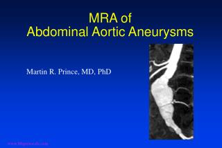 MRA of Abdominal Aortic Aneurysms