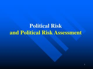 Main Types of Political Risks