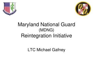 Maryland National Guard MDNG Reintegration Initiative