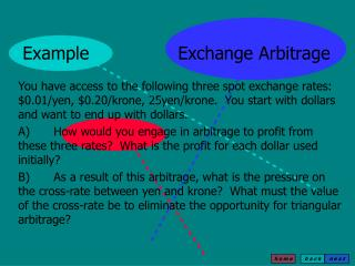 Example   Exchange Arbitrage