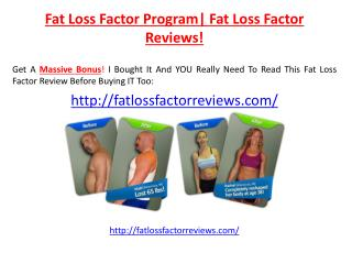 Fat Loss Review|Fat Loss Factor Program