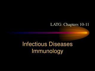 Infectious Diseases Immunology