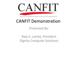 CANFIT Demonstration