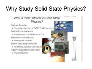 Why Study Solid State Physics