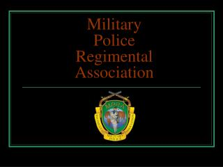 Military Police Regimental Association