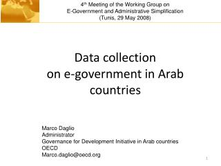 Data collection  on e-government in Arab countries