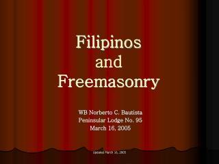 Filipinos and Freemasonry