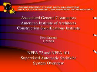 Associated General Contractors American Institute of Architects Construction Specifications Institute  New Orleans  11