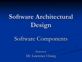 Software Architectural Design