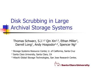 Disk Scrubbing in Large Archival Storage Systems
