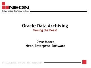 Oracle Data Archiving Taming the Beast