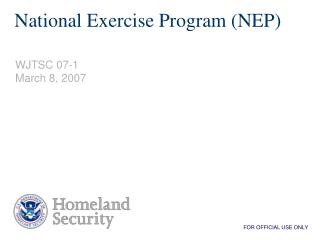National Exercise Program NEP