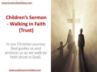 Children's Sermon - Walking in Faith (Trust)